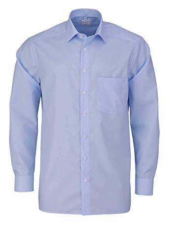 OLYMP Luxor Comfort fit Hemd Langarm mit New Kent Popeline hellblau Größe 45