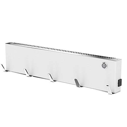 LYzpf Diseñador Baño Radiador Toallero Electrico con Ganchos Estantes Montados Aluminio Espacial...