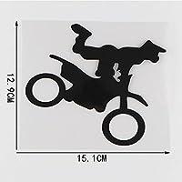 3個の車のステッカー-15.1CM * 12.9CMオートバイのパターンの車のステッカーはビニールデカールを飾る-黒
