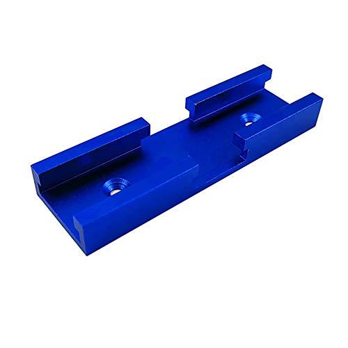 jeerbly T-Schienenrampe,30 Typ T-förmiger Schienenschlitz Aluminium Gehrungswerkzeug Holzbearbeitungsschiene Zubehör Kreuzungskanal für Routertisch, Holzbearbeitung