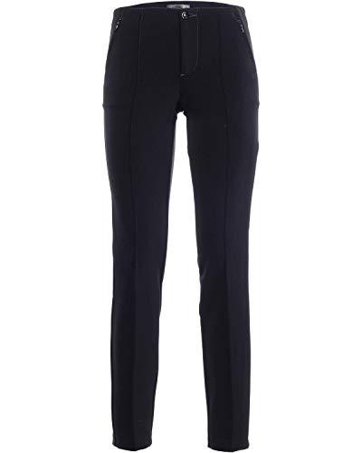 MAC Jeans Damen Anna Zip New Hose, Blau (Dark Blue 198), W42/L30