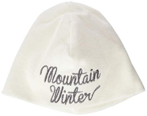 Igi&Co Double Layer Beanie Bonnet, Blanc (Mountain Winter Embroidery on White MW), 62/68 (Taille Fabricant: 3-6M) Mixte bébé