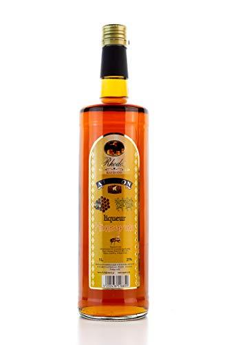 Honig & Rum Likör 1 Liter Flasche Honiglikör 21% Vol. Honigrum Liquer aus Rhodos Griechenland