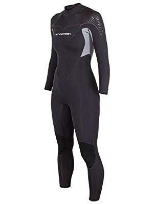 Henderson Women's Thermoprene Pro Wetsuit 3mm Back Zip Fullsuit Black/Lavender