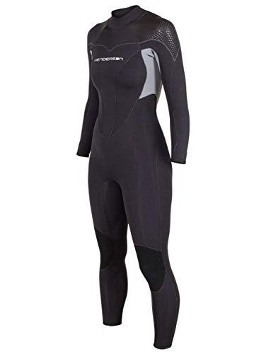 HENDERSON Women's Thermoprene Pro Wetsuit 3mm Back Zip Fullsuit Black