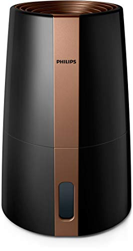 Philips Luftbefeuchter 3000 Serie HU3918/10 (bis zu 45m², hygienische NanoCloud-Technologie, leiser Nachtmodus, Automodus, 3 Liter Wasserbehälter) schwarz
