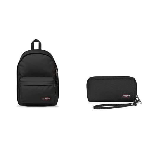 EASTPAK Out of Office Zaino, 44 cm, 27 L, Nero (Black) + Loann Astuccio, 19 cm, Nero (Black)