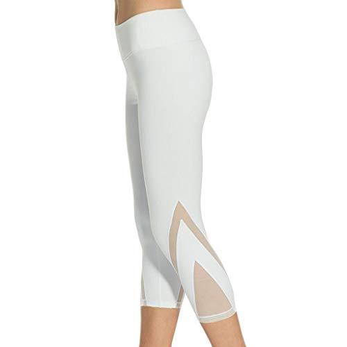 RISTHY Leggings Mujer 3/4 Pantalones de Yoga Deportivas Mallas Leggins Cintura Alta Push Up Elástico para Running, Yoga y Ejercicio Fitness Gym Pantalon Elásticos Pilates