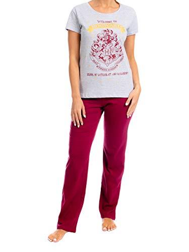 HARRY POTTER Pijama para Mujer Hogwarts Rojo Small