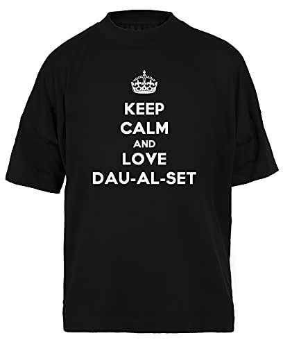Keep Calm and Love Dau-Al-Set Negra Camiseta Holgada Unisex Tamaño L Black Baggy tee Tshirt Unisex Size L