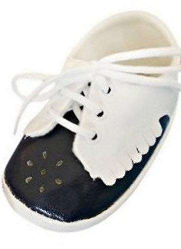 Seruna Festliche-r Baby-Schuh TP21/00 Gr. 18 Tauf-Schuhe schwarz-weiß für Babies Junge-n und Mädchen zu Hochzeit-en