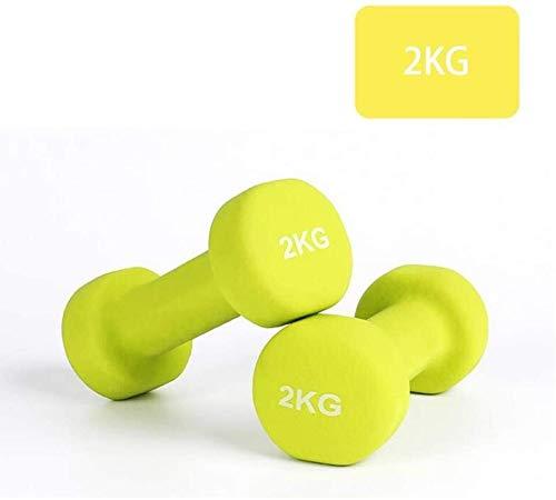 LAZ Hantel Hand Gewicht Barbell perfekte Sportgerät Schulter- und Rückenübungen for Training Kraft Dumbbells Matte Gefühl Grün 5kg Hantel (Farbe : Green, Größe : 4KG(2kg*2))