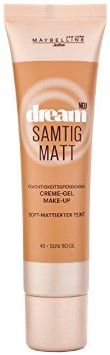 Maybelline New York Dream Samtig Matt Creme-Gel Make-Up Sun Beige 48 / Schminke in einem Hautfarben-Ton, für eine langanhaltende Abdeckung und einen frischen Look, 1 x 30 ml