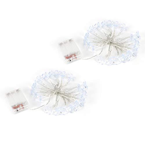 Bicaquu Cadena de Luces LED de 2 Piezas/Juego, innovadora Cadena de Luces de plástico, Fiestas para Navidad