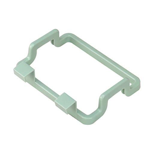 ROUNYY Müllsackständer Tragbare Küche MüllsackhalterInkognito Cabinets Cloth Rack Handtuchhalter (Grün)