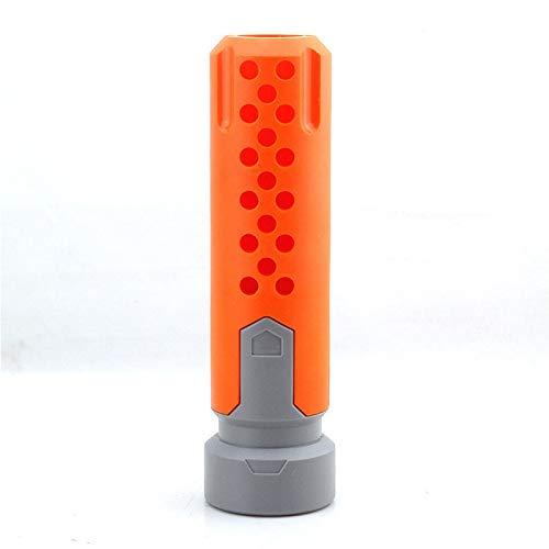 XBF-Armas de Aire comprimido, Universal Compatible Pistola de Juguete silenciador for Pistola Nerf Modificado Piezas de Montaje Accesorios del Arma de Juguete (Color : Orange)