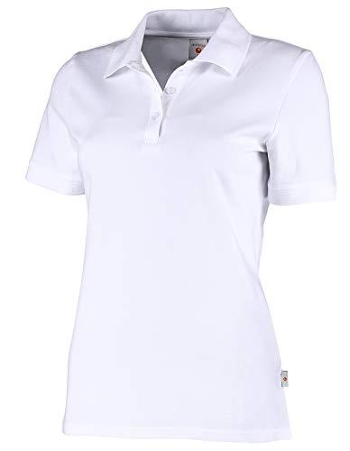 Whitewear Damen Polo-Shirt Piqué Mila Teampolo T-Shirt Praxis Arbeits-Kleidung Gr. XXL weiß
