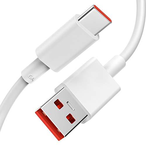TITACUTE USB C Kabel 5A Charge Turbo für Xiaomi Mi 11, 1.5M Typ C Ladekabel Schnelllade-Datenkabel Kompatibel mit Xiaomi Mi 10T Lite/Mi 10T Pro/Mi 10/Poco X3 NFC/Redmi Note 9 Pro
