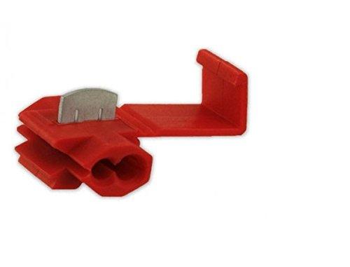XScorpion QS2218R Gauge Quick Splice Connectors (50 Pieces), Red