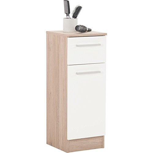 Pelipal 380 Rom Unterschrank, Holzdekor, Sanremo Eiche Terra Quer Nachbildung, 33,0 x 30,0 x 81,0 cm