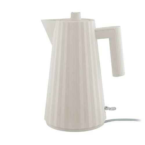 Alessi Plissé MDL06 W Elektrischer Wasserkocher aus thermoplastischem Harz, weiß, EU-Stecker