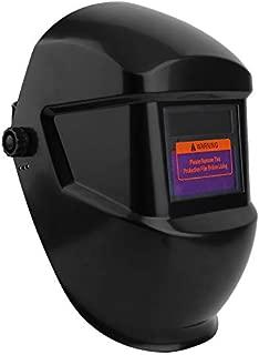 Oscurecimiento automático Vista grande Máscara de soldadura con atenuación accionada por energía solar Casco Rectificado Soldadura y suministros para soldadura de amplificadores negro