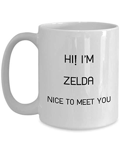 DKISEE Taza de café blanca con el nombre de I'M Zelda, ideal para regalo para hombres y mujeres – Whitemug4072 11 oz