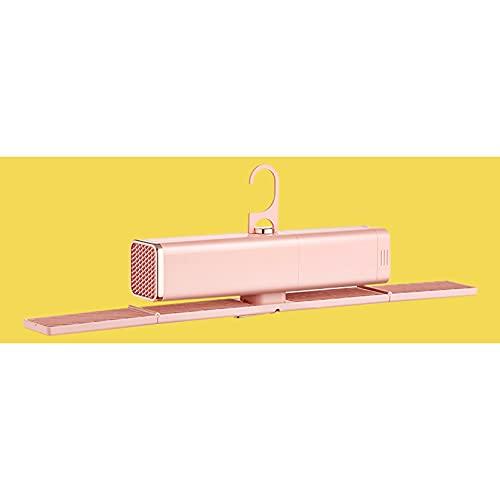 Secadora Pequeña Máquina De Ropa De Secado Rápido para Dormitorio En Casa Percha De Secado Portátil Plegable para Caravana De Viaje Trabajo De Bajo Decibelio,Rosado