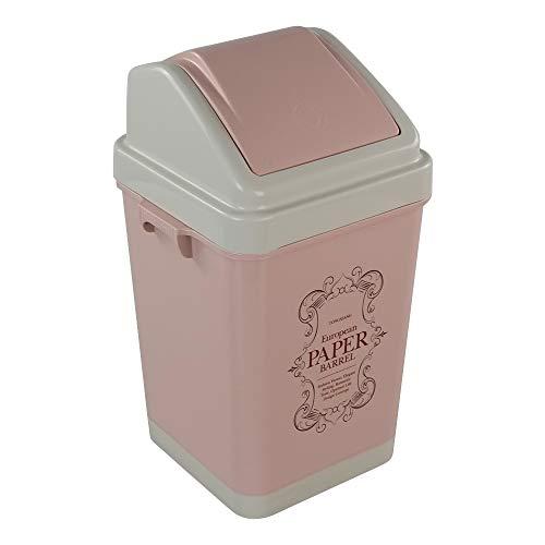 Xowine - cubeta de basura (plástico, 1,5 galones), color rosa