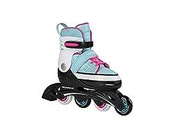 Hudora Unisex- Erwachsene Kinder Inline Skates Basic, mint, Gr. 30-33, One Size