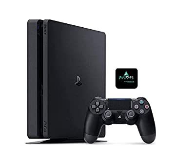 Playstation 4 PS4 1TB Slim Gaming Console with AlleyFlex Sports Cup Mat