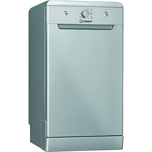 INDESIT DSFE1B10S 10 Place Slimline Freestanding Dishwasher with Quick Wash - Silver [Energy Class...
