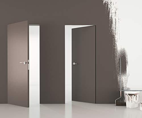 Zimmertüren mit unsichtbaren Zargen \'DMB SET\' Grundiert Standard Plus - Tapetentüren inkl. Zarge - Nach innen öffnend (Türanschlag - Links, 1010 x 2130)