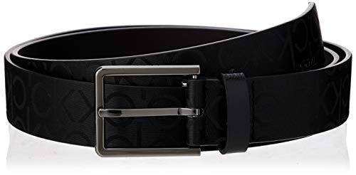 Calvin Klein 3.5cm Industrial Monogram Belt Cintura, Nero (Black BDS), Small (Taglia Produttore: 115) Uomo