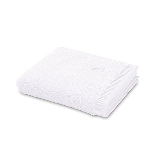 möve Superwuschel serviette de douche, Coton, Snow, 80 x 150 cm