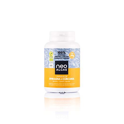 Suplemento de Cúrcuma y Spirulina | Antiinflamatorio Natural | Producción 100% Orgánica y Natural | Efecto Antiinflamatorio y Antioxidante Combinado | 350 mg por Cápsula | 120 Cápsulas por Envase