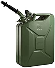 Wavian USA JC0020KVS Green Authentic NATO Jerry Fuel Can and Spout System (20 Liter)