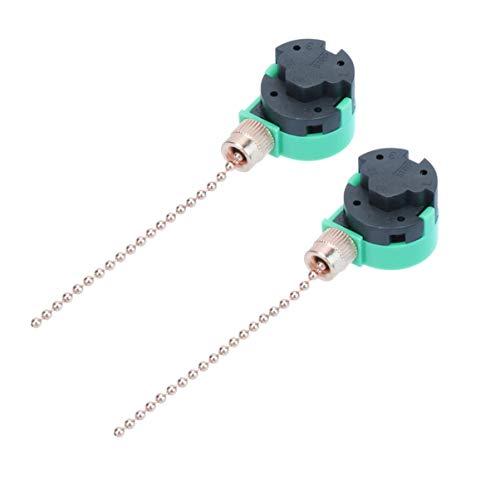 DOITOOL 2 stücke deckenventilator schalter zugkette schalter 3 geschwindigkeit fan lichtschalter für deckenventilator lichter (gold)