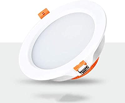 Xungzl Downlight led Ceiling Light Embedded Simple Ultra-Thin Commercial Aluminum Ceiling Commercial Display Round Panel Spotlight Home Indoor Ceiling lamp Bathroom Corridor Stage Office Spotlight