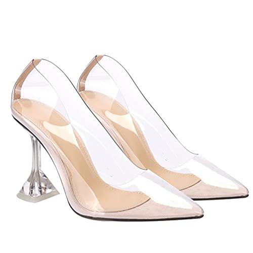 Holibanna 1 par de Zapatos de Tacón Alto Transparentes Mujeres Sexy Zapatos de Tacón Alto