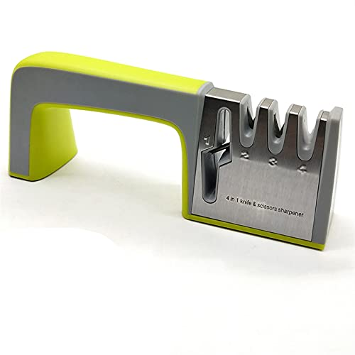 afilador de cuchillo Afilador Hogar Sacapuntas Quick Afilador Whetstone Stick Stick Cuchillo Cuchillo Cocina Afilador Afilador 3-Etapa Tipo (Color : C green)