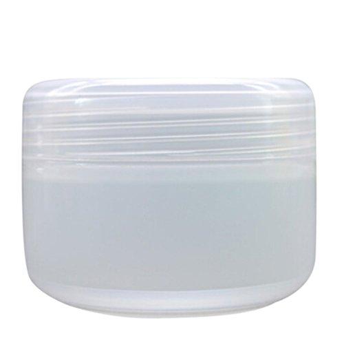Bodhi2000 Set da 5 contenitori in plastica vuoti per cosmetici, per viaggi, ricaricabili, per creme/lozioni/polvere/minerali trasparente Transparent 100