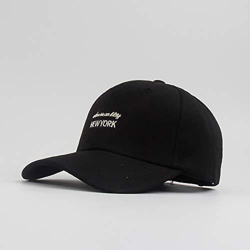 Cappello Donna Primavera ed Estate Berretto da Baseball da Uomo Berretti Casual Versione Coreana Selvaggia del Cappello da Sole Cappello da Sole Nero Marea