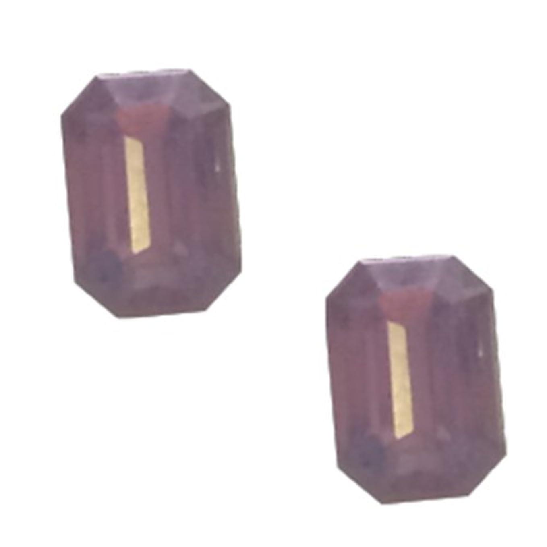 インストラクター無一文分数POSH ART ネイルパーツ長方形型 4*6mm 10P ピンクオパール