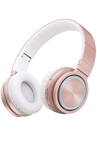 PICUN Auriculares inalámbricos Bluetooth con luz LED y micrófono, 25...
