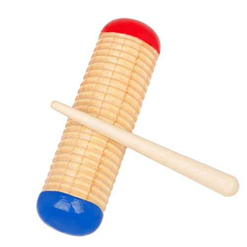 EElabper Guiro Rascador Music Guiro Guiro Raspador De Madera De Sonido con Mazo De Instrumentos Musicales De Percusión para Niños Juguetes del Cabrito