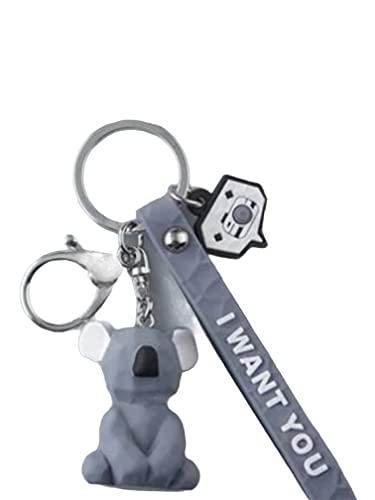 Simpatico portachiavi Koala con anello in metallo e moschettone per portare le chiavi o...