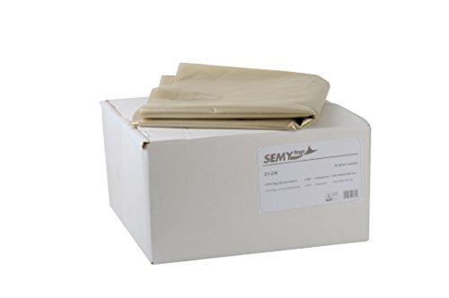 Semy LDPE-Regenerat Styroporsäcke, transparent, Typ 100, circa 2500 l, 1er Pack (1 x 20 Stück)