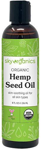 Organic Hemp Seed Oil by Sky Organics (8oz) 100% Pure Cold-Pressed Hemp Oil -High in Omega 3-6-9 Fatty Acids- Not...