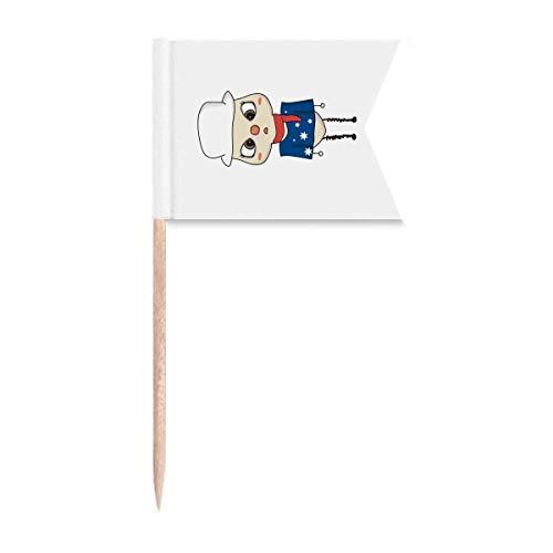 Beauty Gift Australien Ozeanien Canberra Flagge UU Markierung für die Kennzeichnung von Zahnstocher-Flaggen
